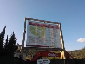 19 febbraio 2013: Inizio lavori - Cartello di cantiere