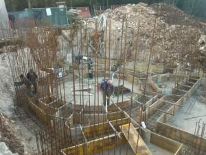 28 febbraio/4marzo: Armatura e getto della struttura di fondazione