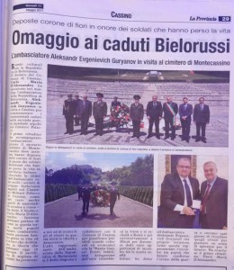 articolo Omaggio ai caduti bielorussi